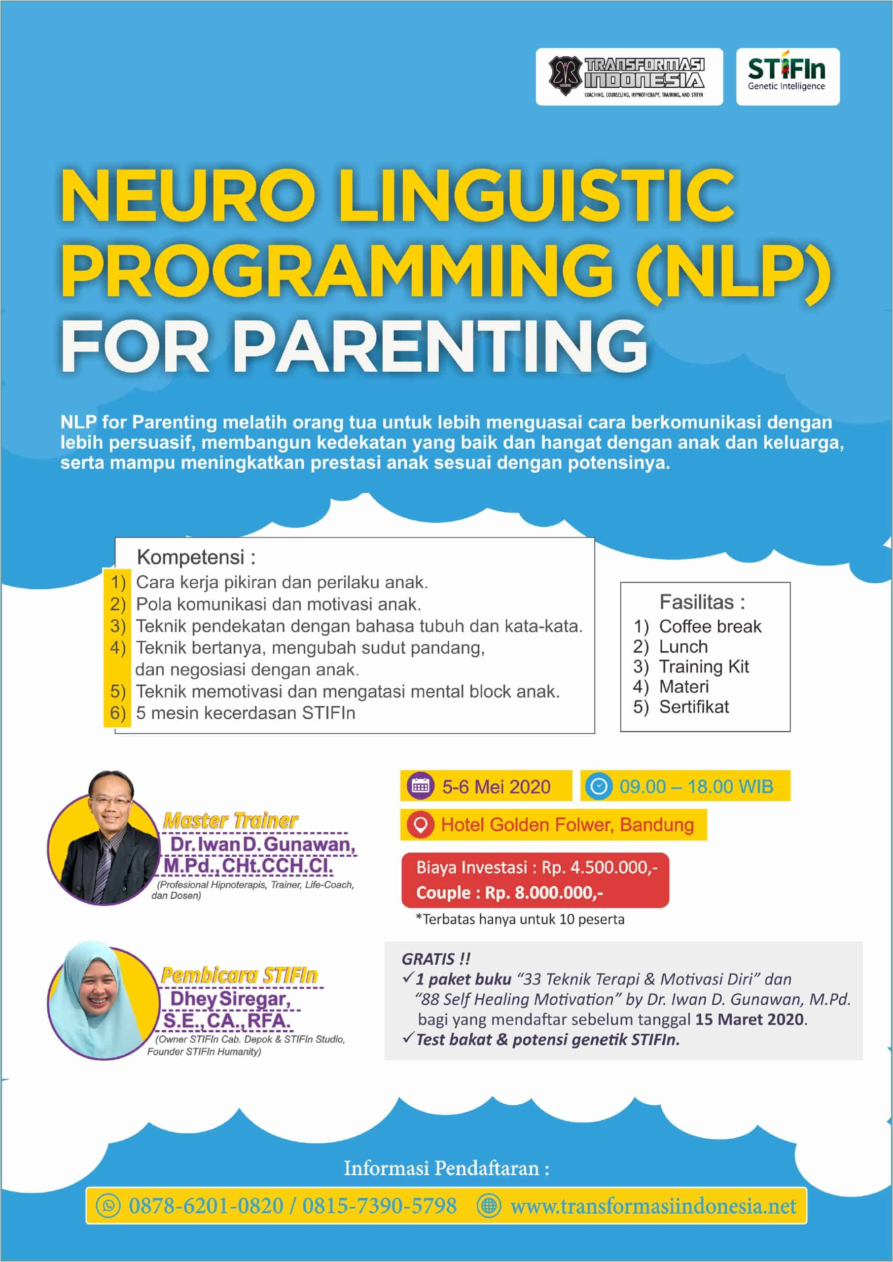 Neuro Linguistic Programming (NLP) For Parenting (BANDUNG)
